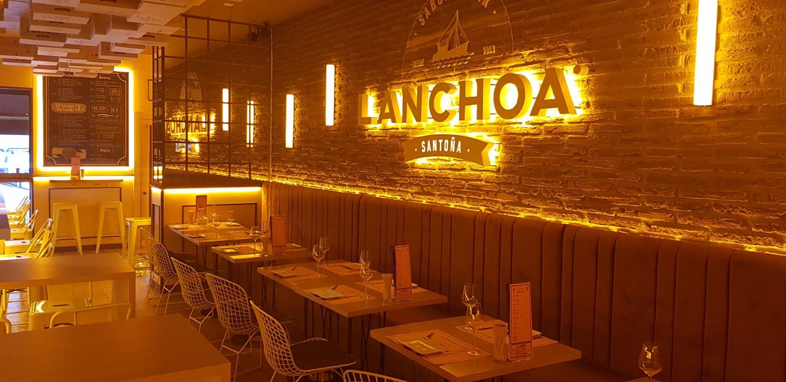 diseño fabricación instalación proyecto de maquinaria mobiliario acero inox inoxidable restaurante La Anchoa Madrid sistema extracción de humos plano hosteleria interiorismo